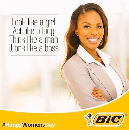 In 2015, BiC's tasteless attempt to be authentic resulted in widespread scorn on social media.