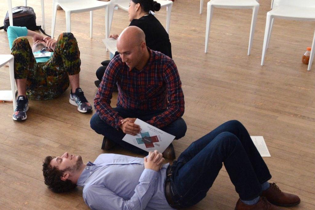Storytelling Consultant Jordan Bower facilitating a Storytelling Workshop